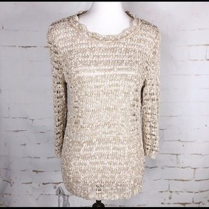 Christopher & Banks Sweaters - 🍰Sale! Christopher & Banks tan and cream sweater